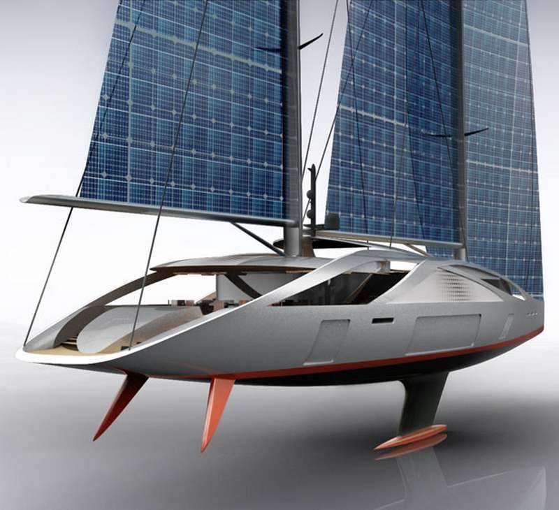 50 Meters Sailing Yacht With Solar Sails Wordlesstech Yacht Design Sailing Yacht Solar Panels