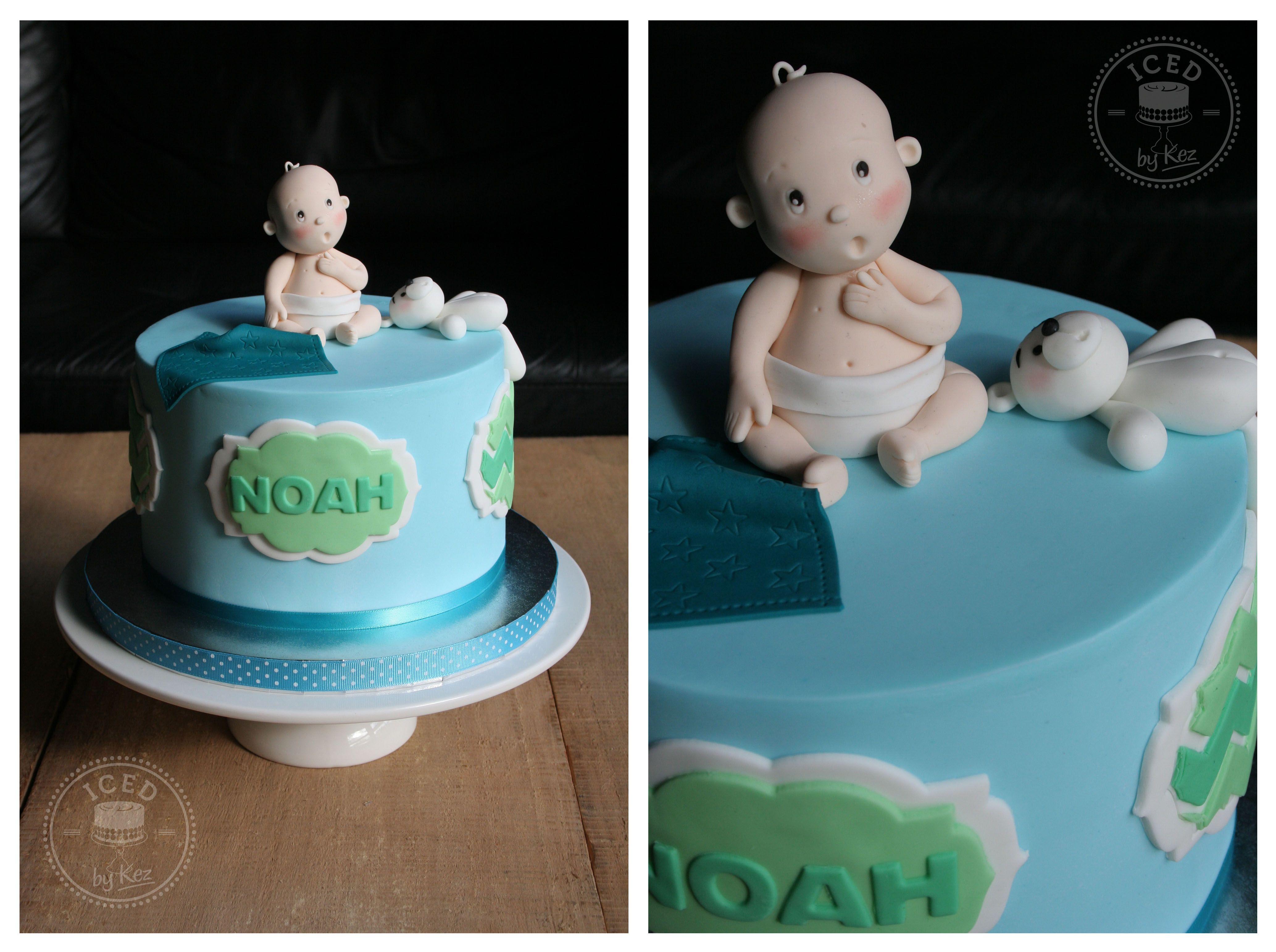 A homebaby shower cake for little noah