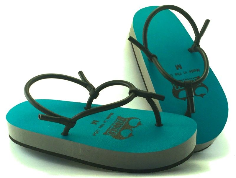 d763785cd9c Turquoise Big Knockers Tiddies Sandals
