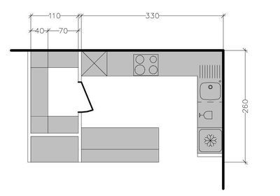 8 plans de cuisine am ricaine avec un bar plan de for Bar plan de travail cuisine americaine