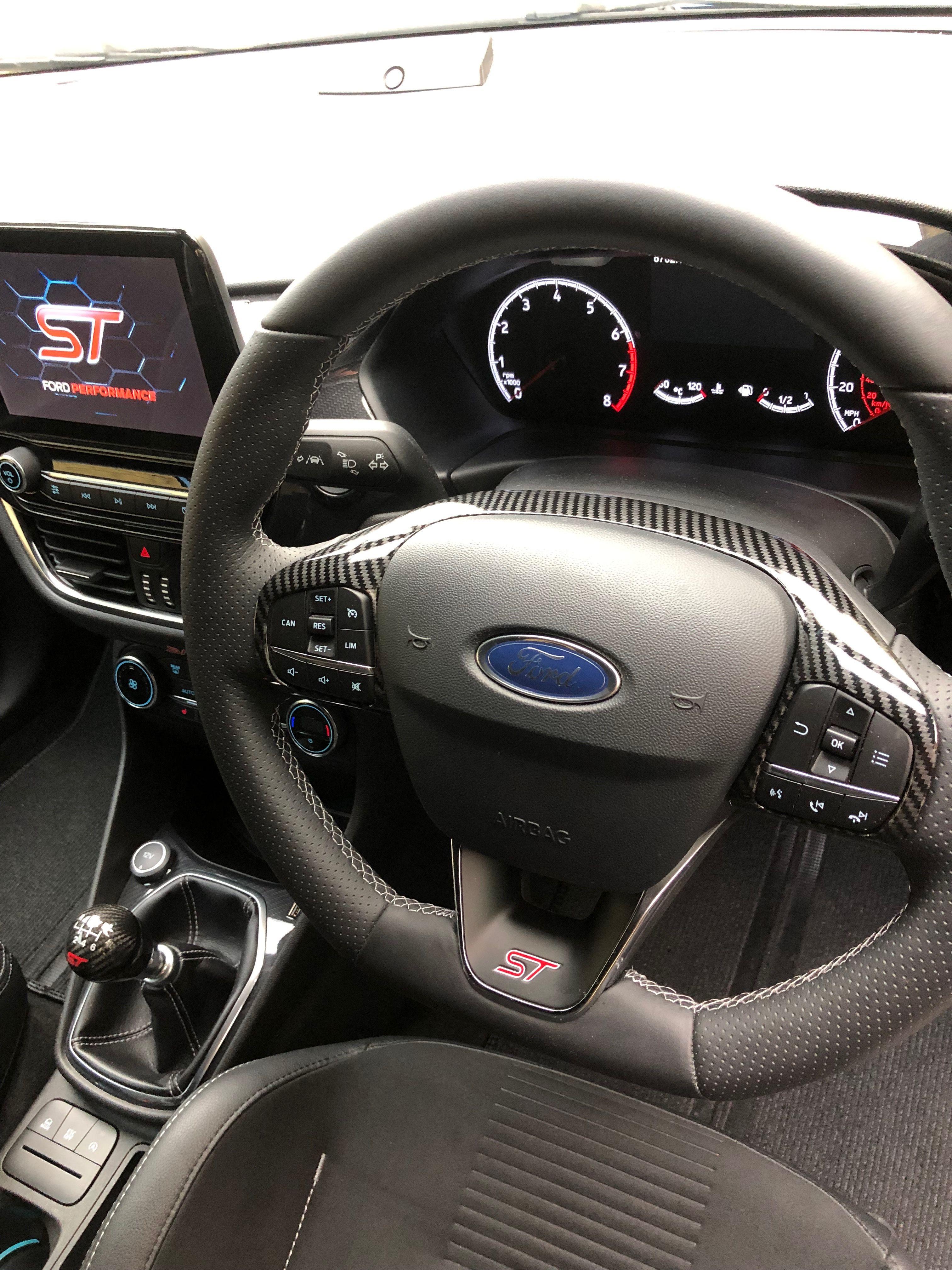 Carbon Fiesta Mk8 St Steering Wheel Cover Ford Fiesta St Fiesta