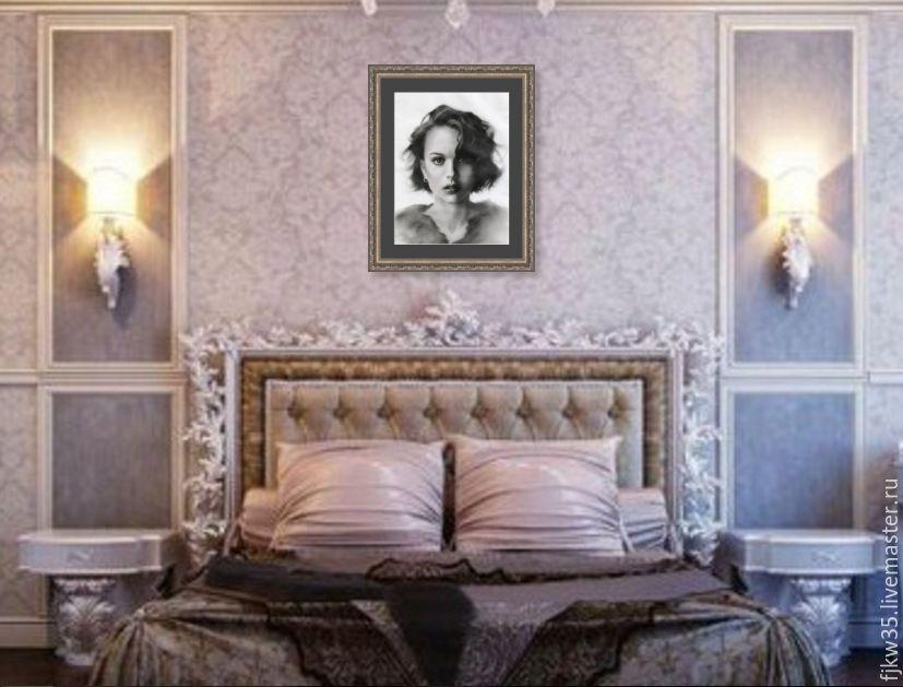 Купить Натали Портман - портрет по фотографии, портрет на заказ, портрет девушки, портрет карандашом