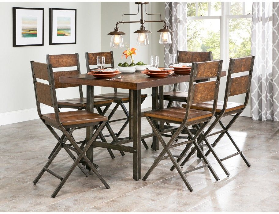 Kavara Counter Dining Set Family Room Furniture Dining Area