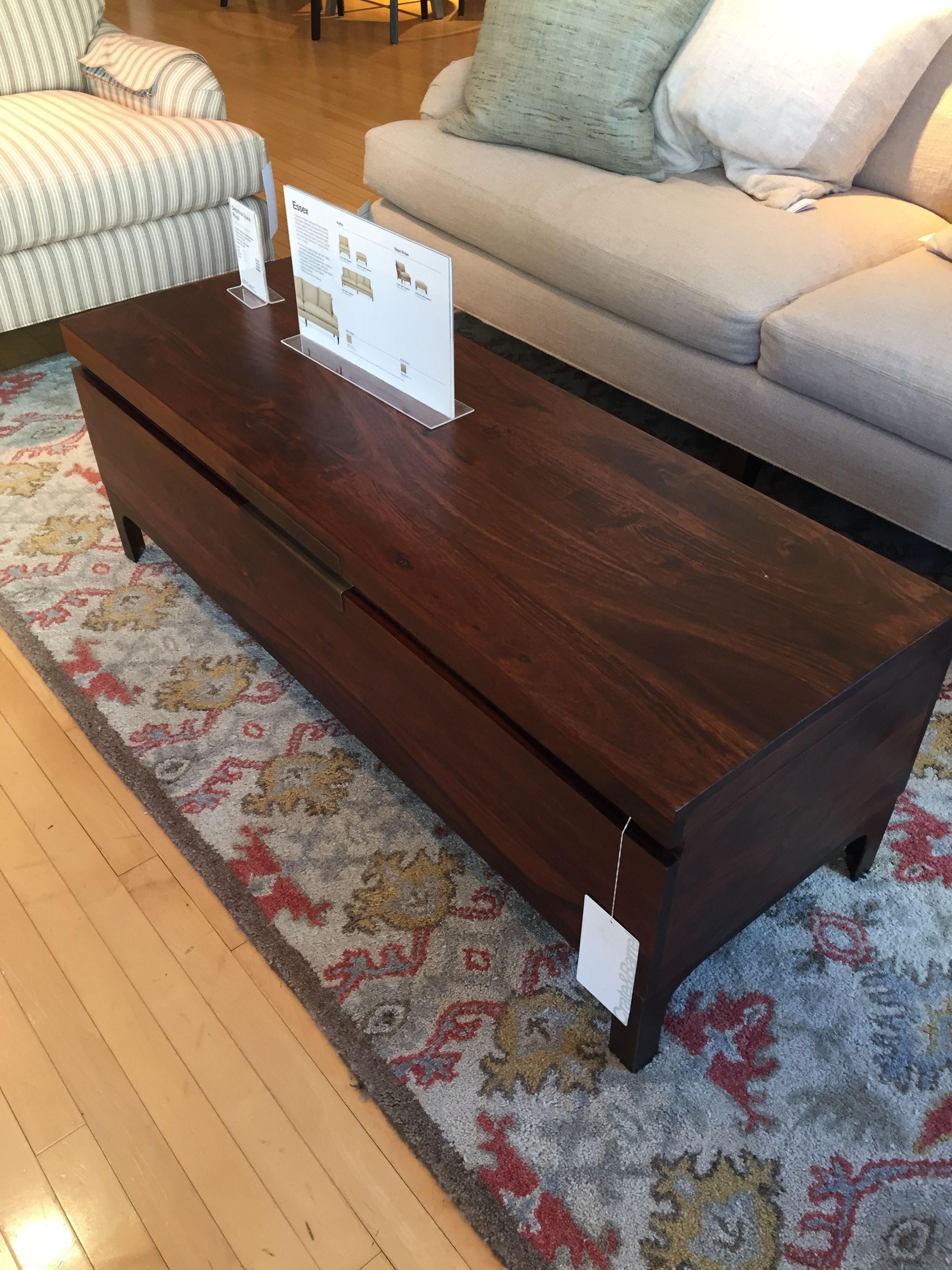Crate and Barrel Jada Trunk Bench $549 51w x 18d x 17 75h
