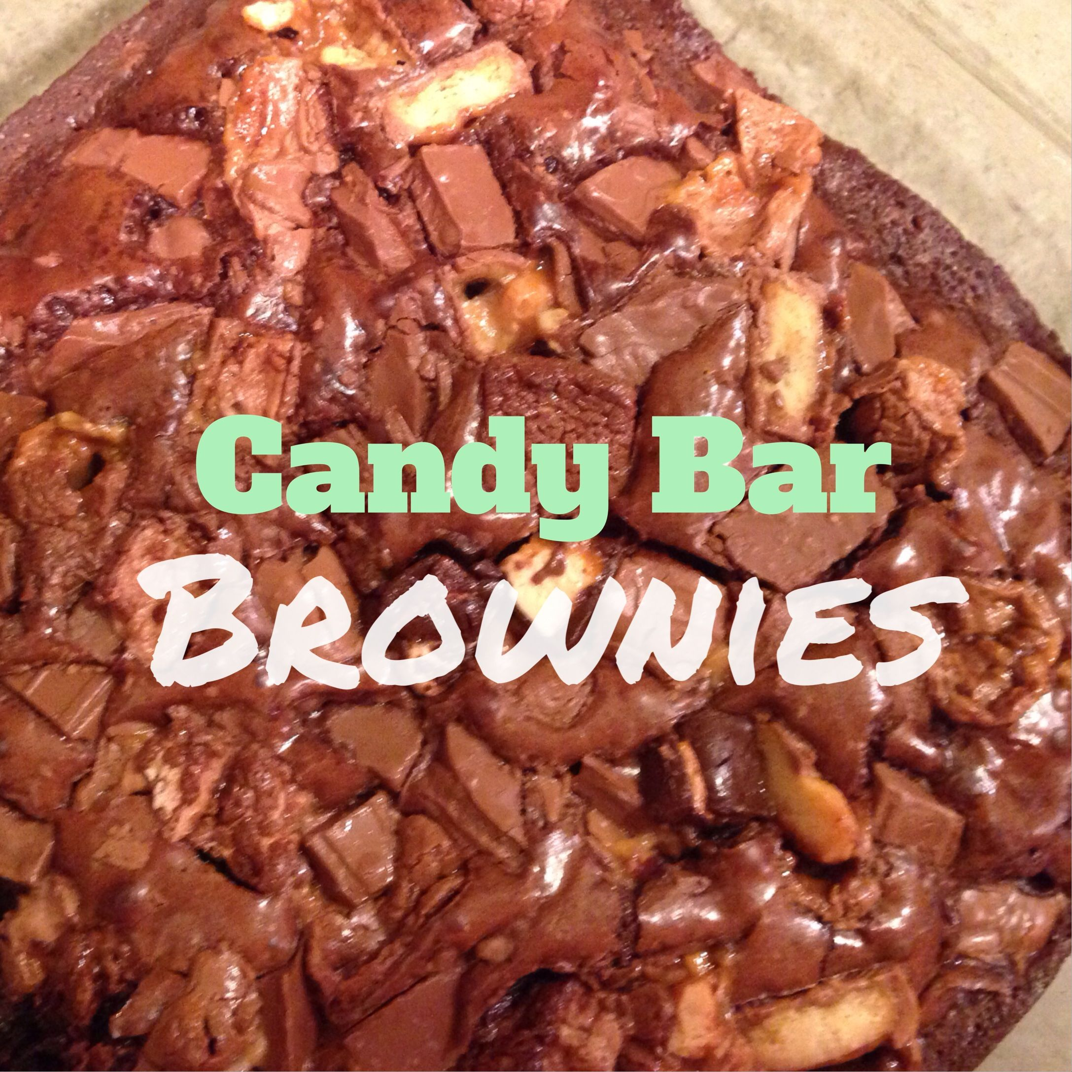Candy Bar Brownies Use Up Leftover Holiday Candy By Chopping Into