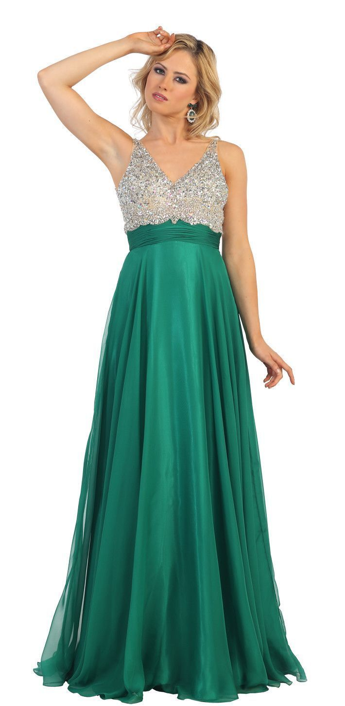 Long formal chiffon prom plus size evevning dress the dress outlet