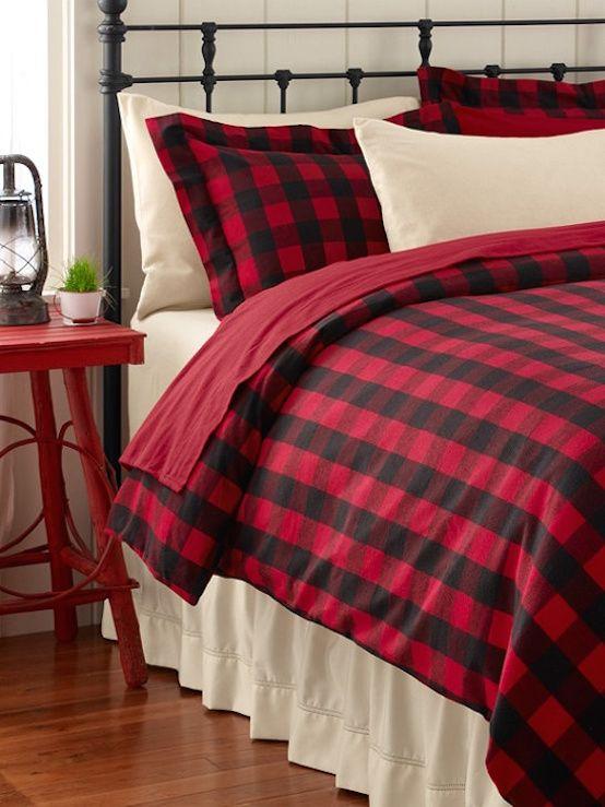 17 Elegant Black White And Red Bedroom Design Ideas Interior God Home Plaid Bedroom Bedroom Design Red plaid bedroom ideas