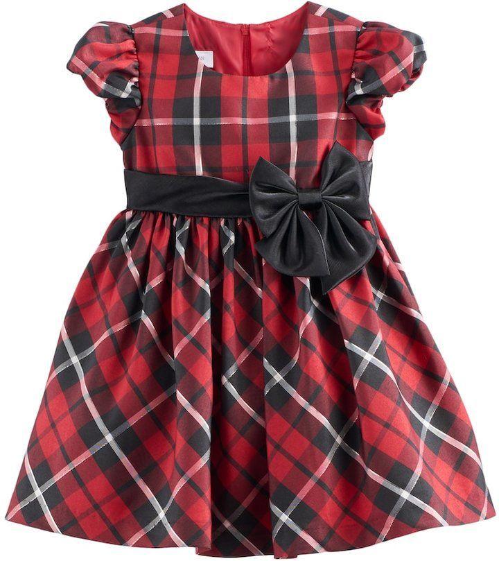 fad639c6f520 Bonnie Jean Toddler Girl Red Plaid Sparkle Dress | gladys | Bonnie ...