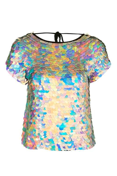 Hologram Sequin Tee by Rosa Bloom
