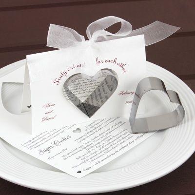 Heart Cookie Cutter Wedding Favor Bed Bath And Beyond Wedding Inviationas Accessories Cookie Wedding Favors Heart Cookie Cutter Heart Cookies
