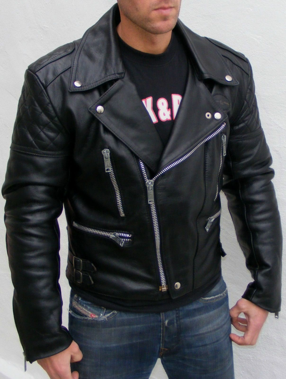 Classic Biker Jacket- every man should own a great black leather ...