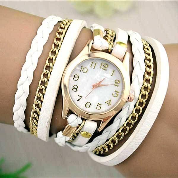 Bien connu Montre Femme - Bracelet Montre Vintage Cuir Disponible en  NU28
