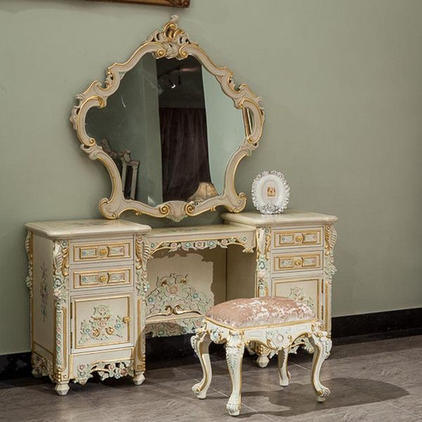 2019 Classic French Style Furniture Handwork Gilding Golden Foil