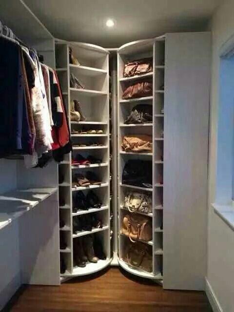 Lazy Susan Shoe Rack