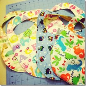 Cute bibs and stuff frommy cousin Kate!
