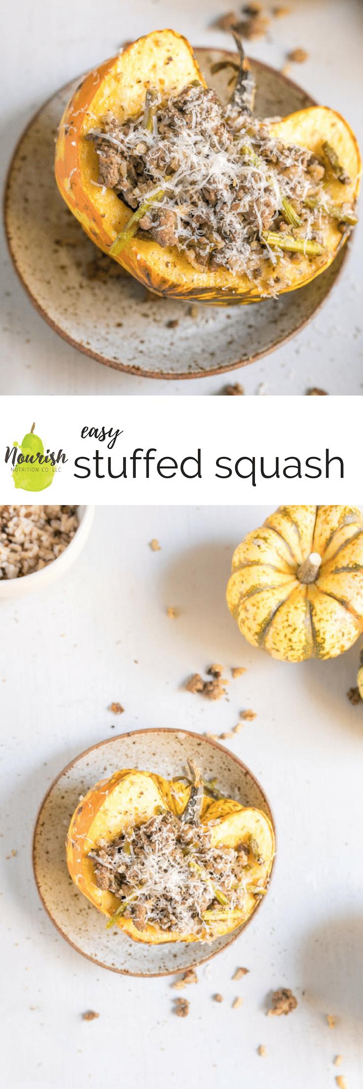 Stuffed Acorn Squash Recipe Food Recipes Beef Rice Fall Recipes
