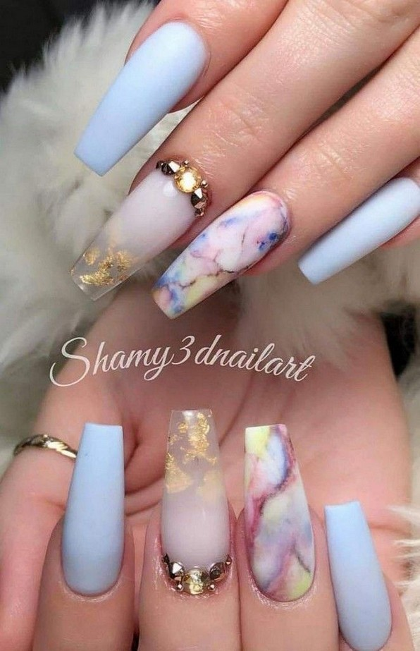 61 Simple And Amazing Gel Nail Designs For Summer 11 Producttall Com Dream Nails Pretty Acrylic Nails Summer Acrylic Nails