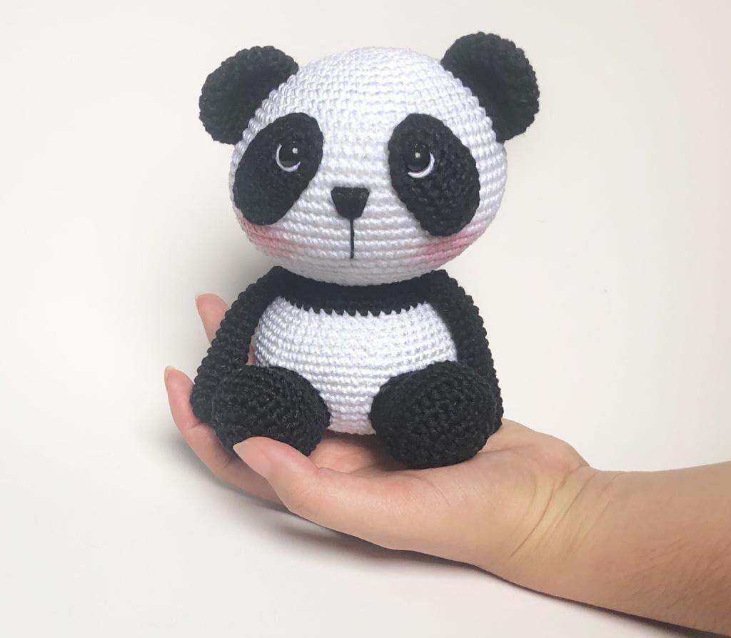 Panda Bear (English), PDF crochet bear pattern, cute crochet panda bear, Amigurumi Panda