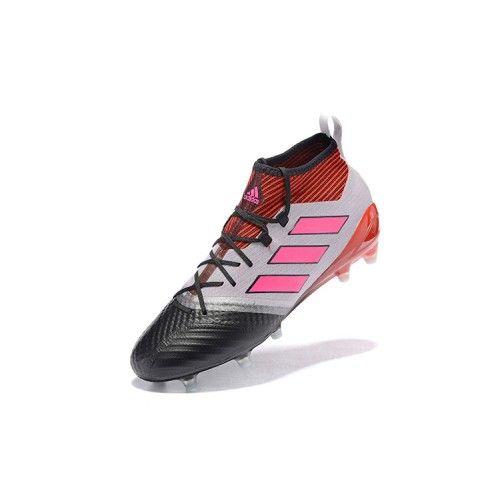 8cad7491165 Goedkoop Adidas ACE 17.1 FG Rood Zwart Wit Goedkope Adidas Ace  Voetbalschoenen Kopen