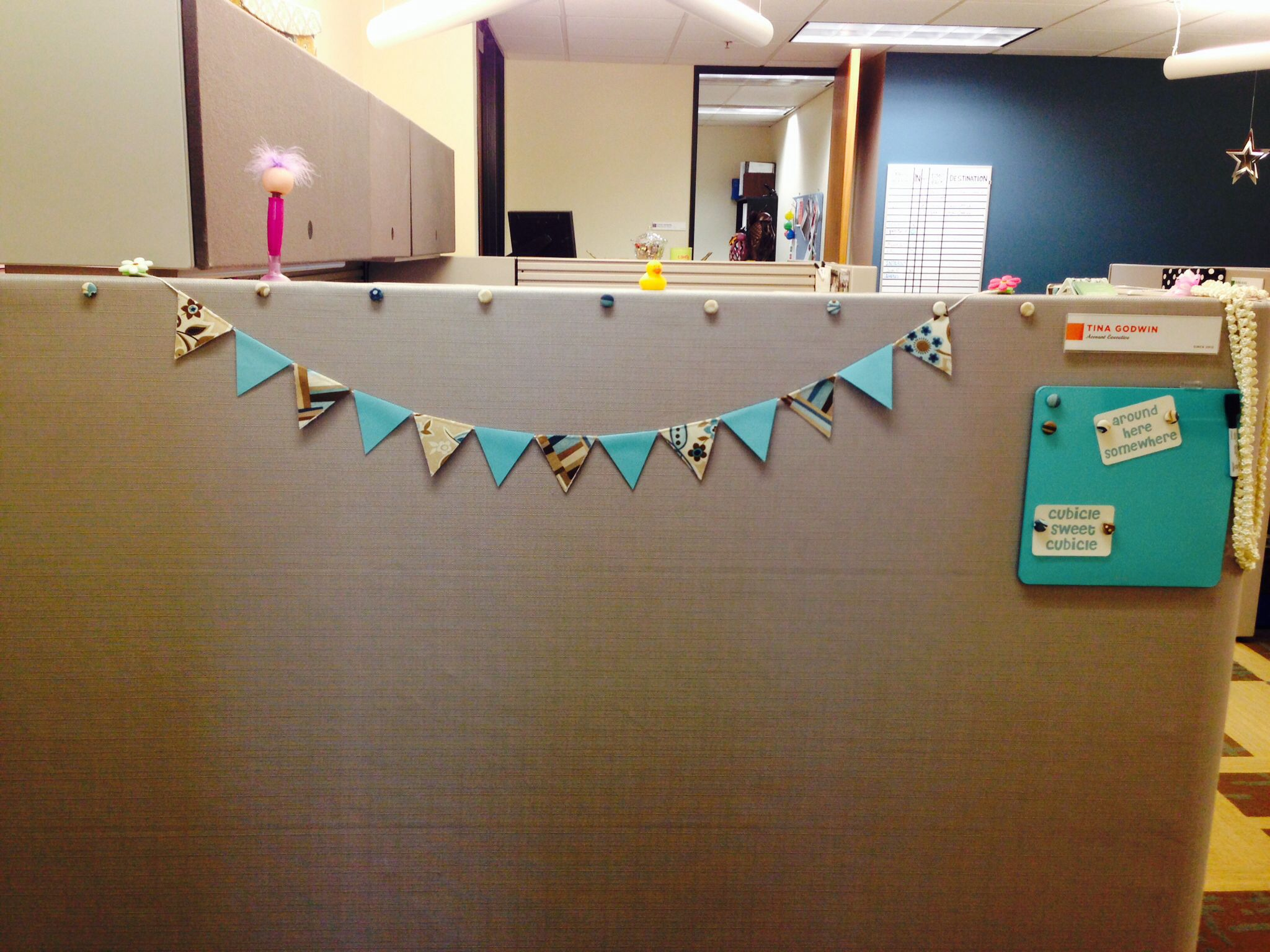 Flag Banner And Dry Erase Memo Board For The Front Of My Cubicle Cubicle Office Cubicle Home Decor Decals