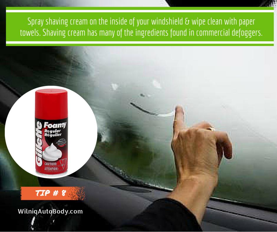 [NEW] How To Defog Car Windows: Spray Shaving Cream On The