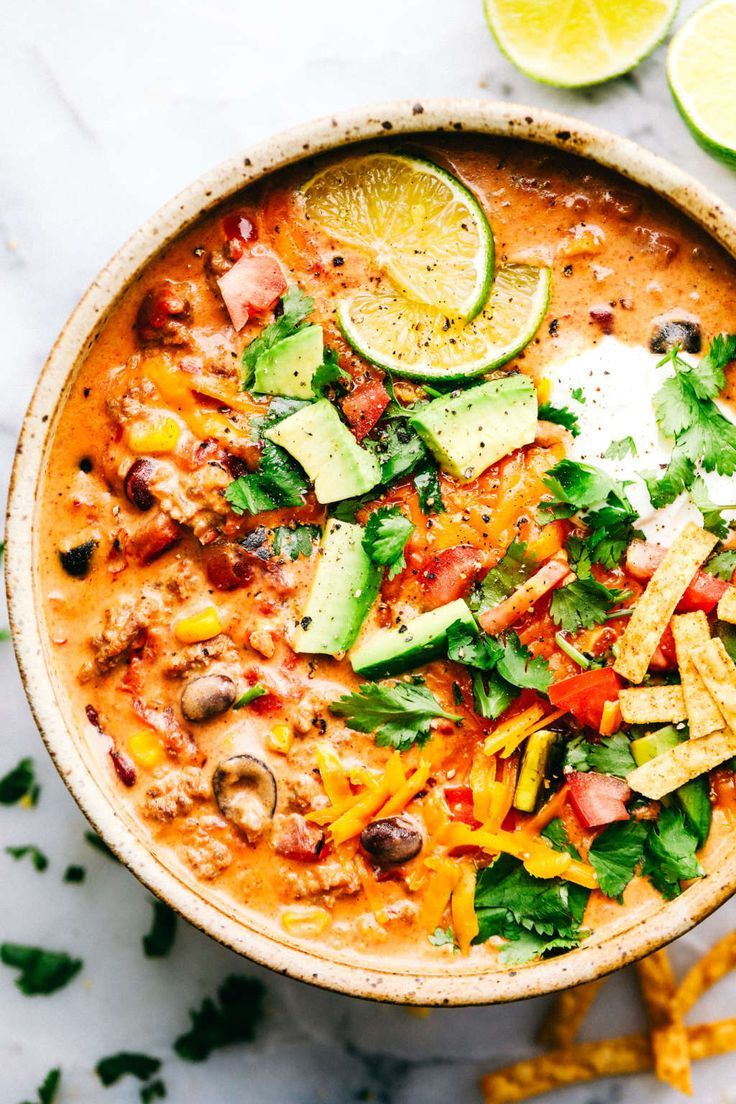 You Need This Cheesy Taco Soup in Your Life #maketacoseasoning