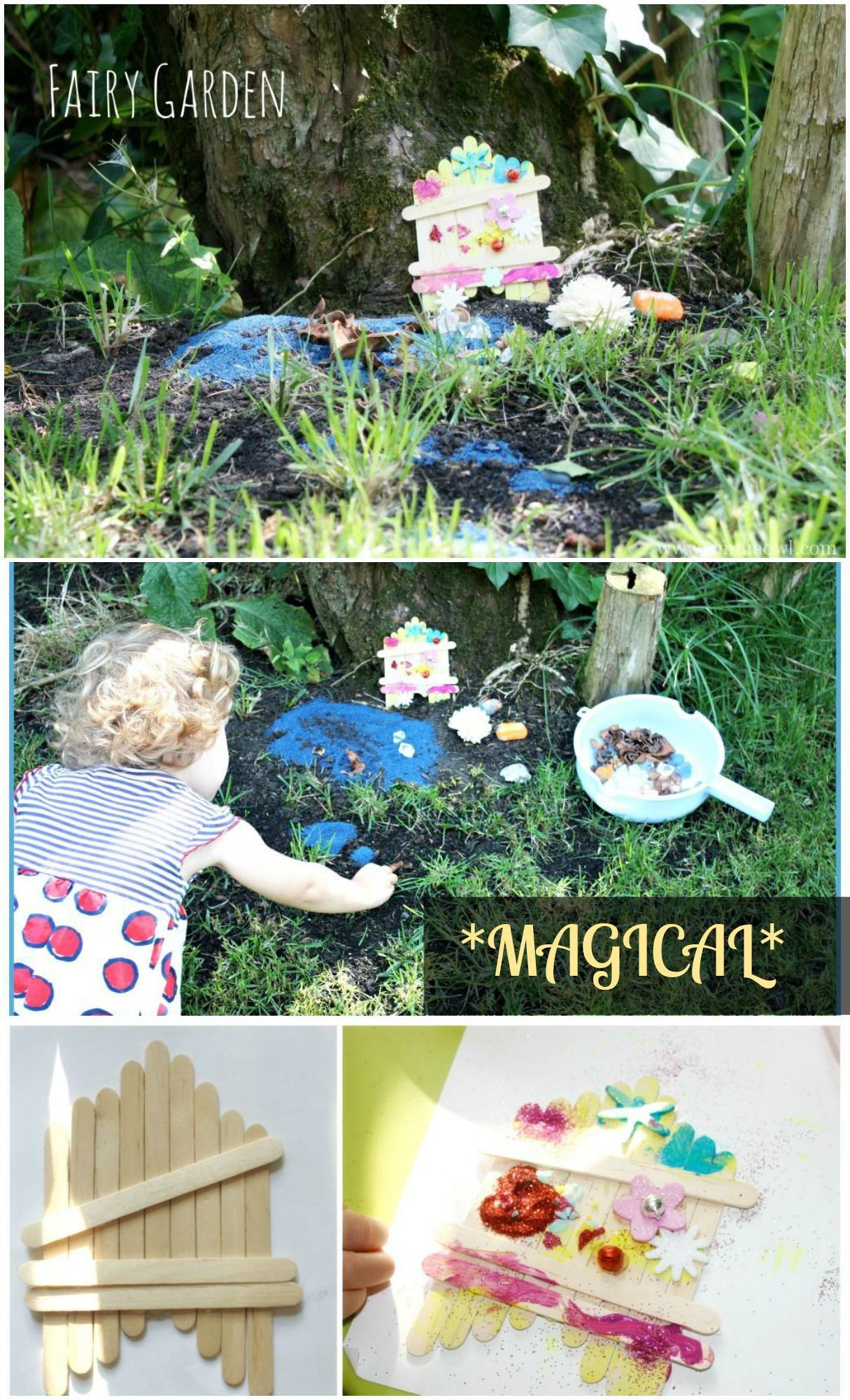 Create your Own fairy garden - complete with door and decorations ...