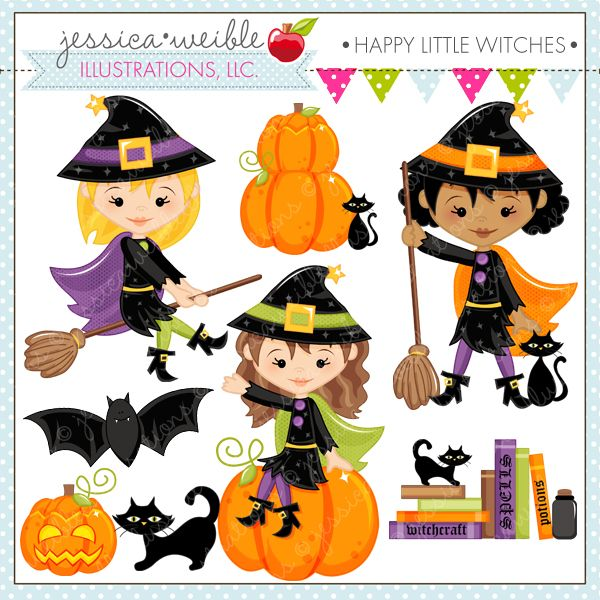 Happy Little Witches Cliparts Mygrafico Com Halloween Graphics Halloween Clipart Free Halloween Clipart