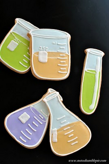 Mad scientist party cookies..