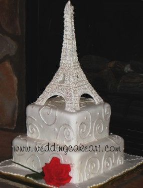 Eiffel tower Cake by sharoncakes via Flickr Eiffel tower made