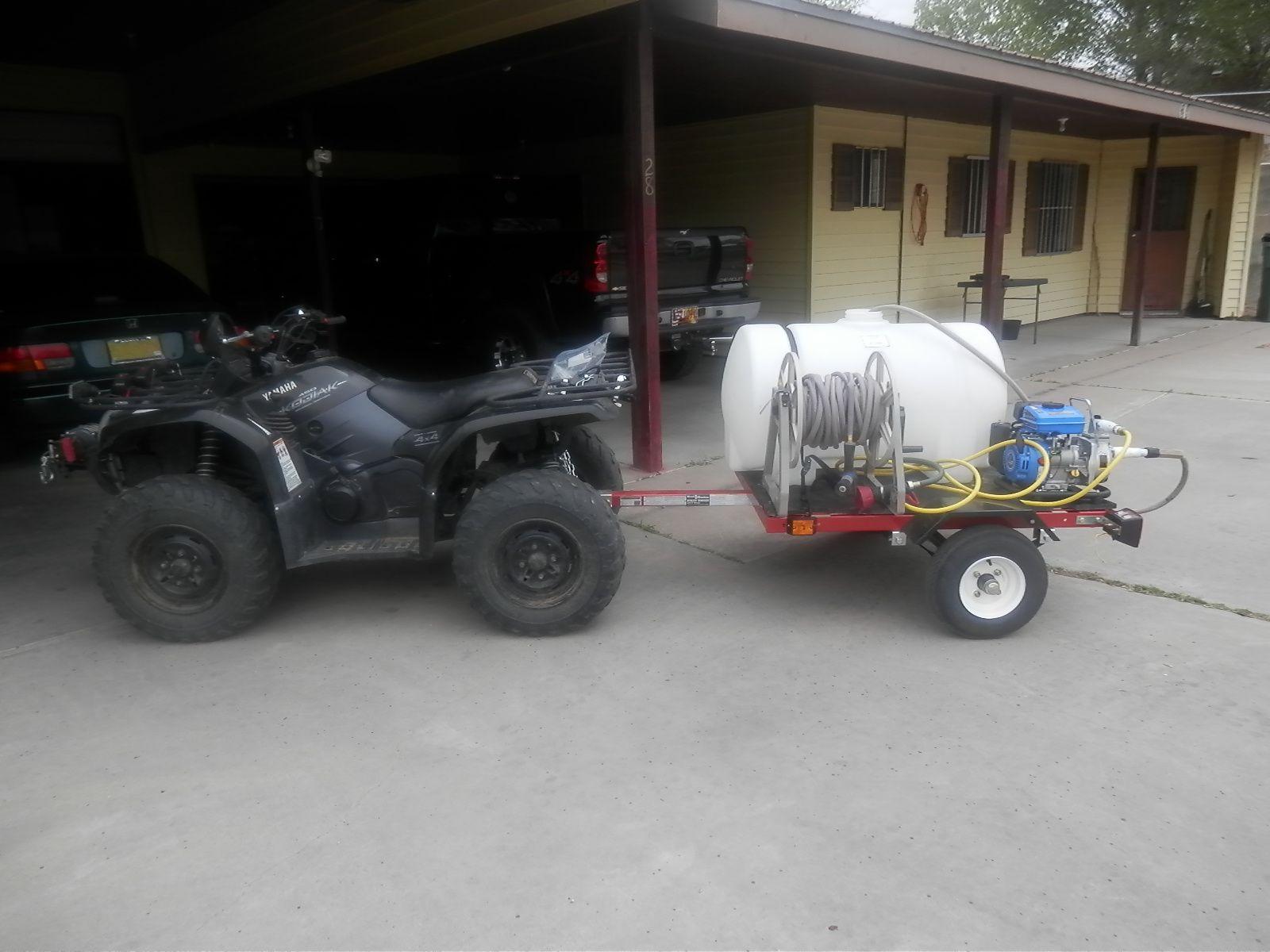 2005 Yamaha Kodiak ATV Pulling Fire Fighting Trailer