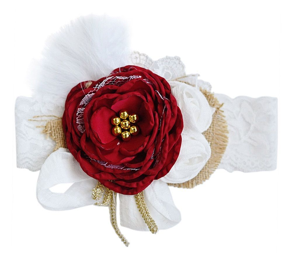 Holiday Spectacular Feather Flower Cluster Headband