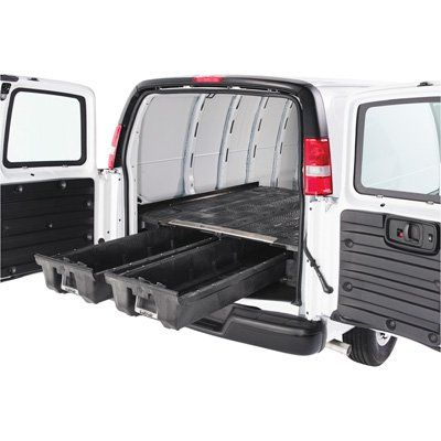 Photo of DECKED 2-Drawer Cargo Van Storage System — Fits Nissan NV (2012-Current), 146.1in.L Wheelbase, Model# VNNS11NSNV55