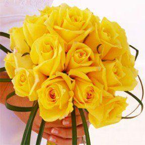 Classic Yellow Rose Wedding Bouquet   FP Diva: FRESH-CUT ROSES ...