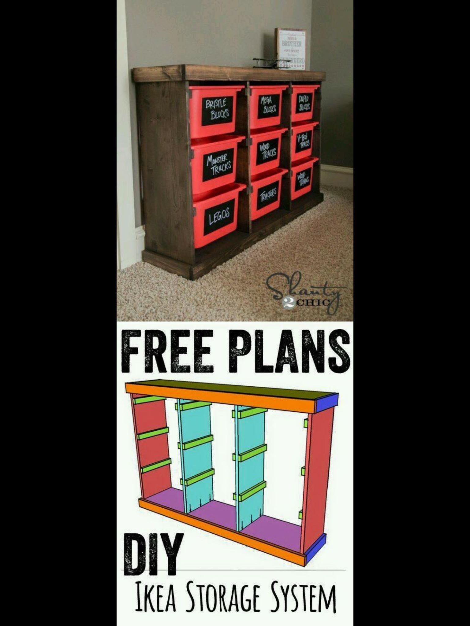 Free Plans Diy Storage Idea Something Like This For The
