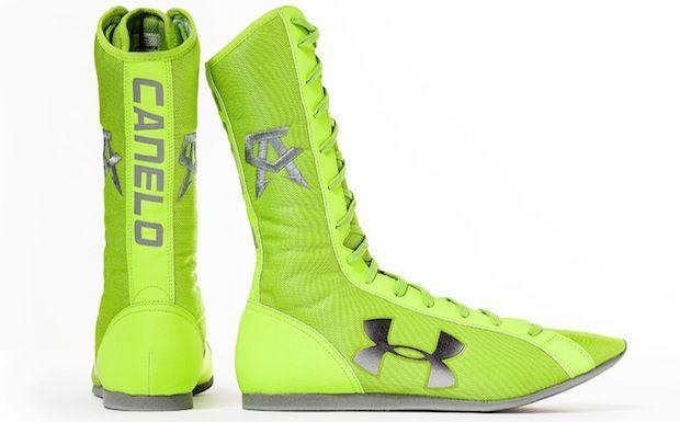 hot sale online ee7d1 5fc5b Under Armour Boxing Boots for Canelo Alvarez