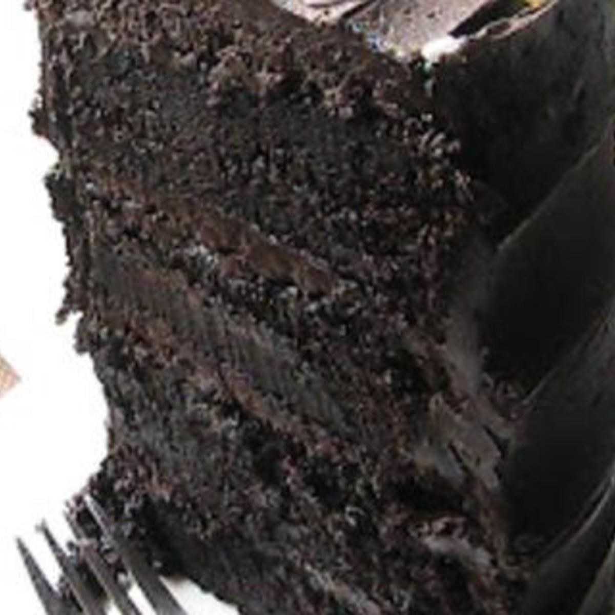 OMG!!!!   Decadent Dark Chocolate Cake