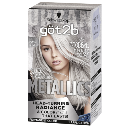 Got2b Metallic Permanent Hair Color Metallic Silver