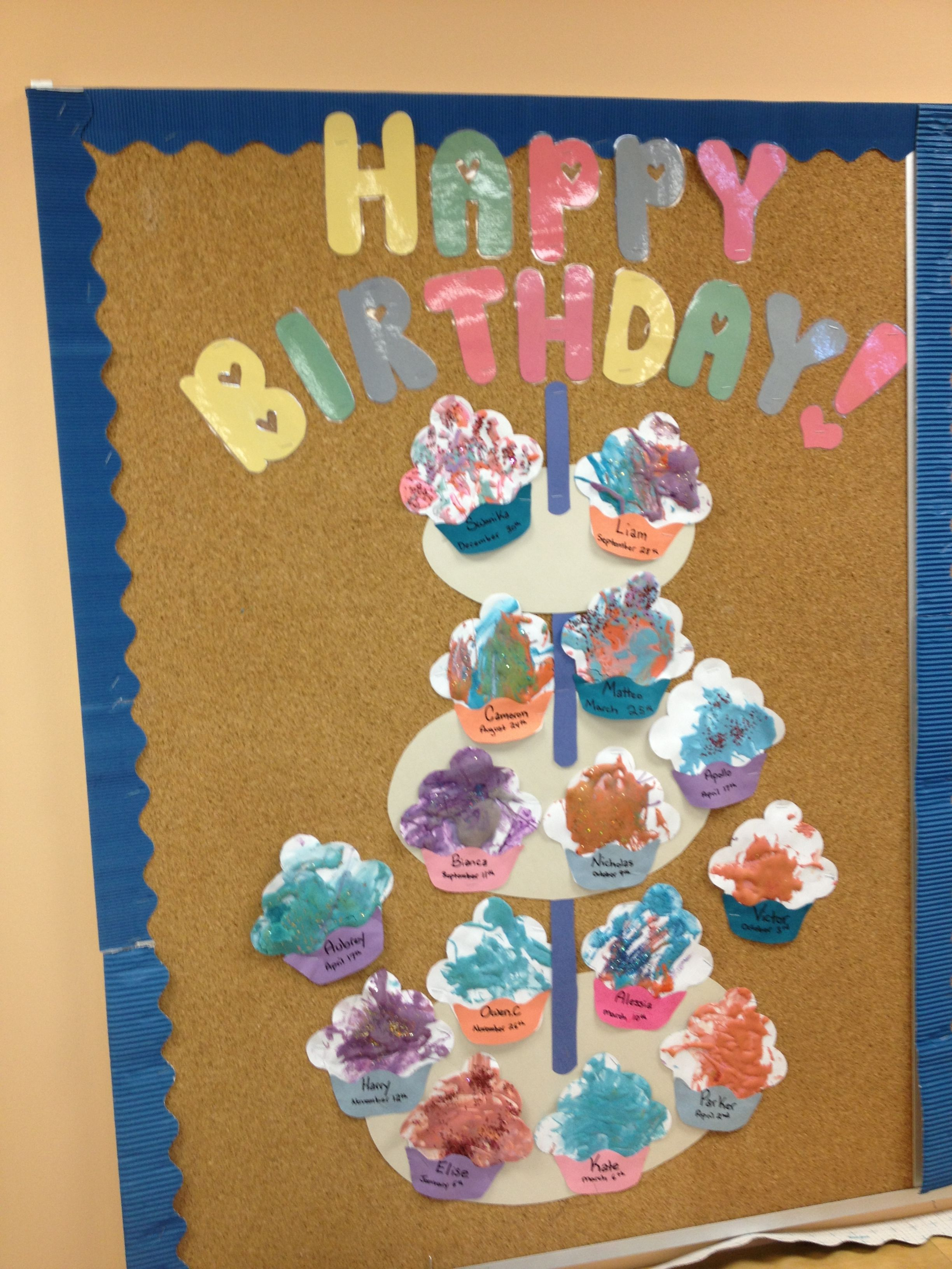 Preschool Birthday Board Chart Classroom Charts Bulletin