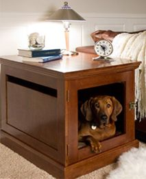 The Trainer Says Crates Are Good For Dogs And These Are Gorgeous But They Still Remind Me Of Those Und Indoor Dog House Dog Crate Furniture Cool Dog Houses