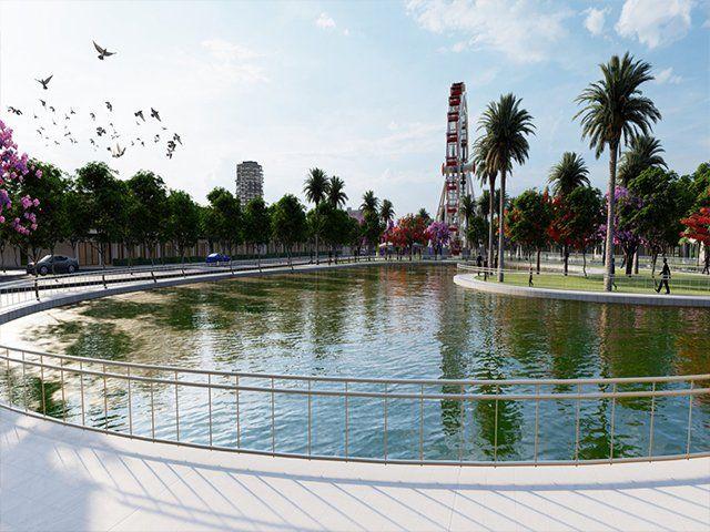 Hồ nước ngọt - đô thị Cồn Khương