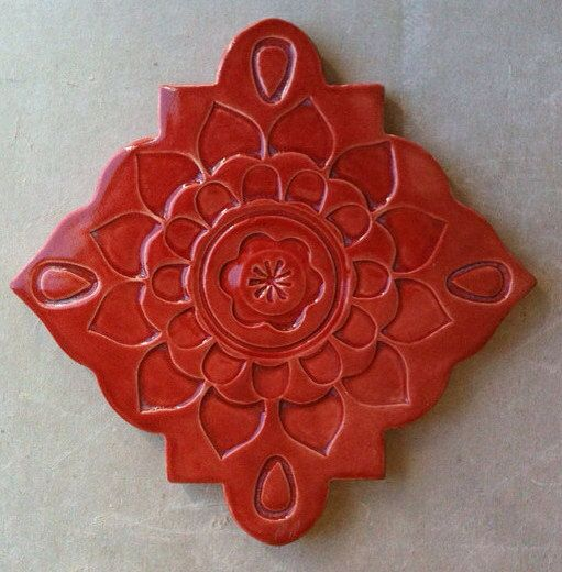 Ceramic trivet art tile wall hanging by artcrafthome on Etsy, $16.00