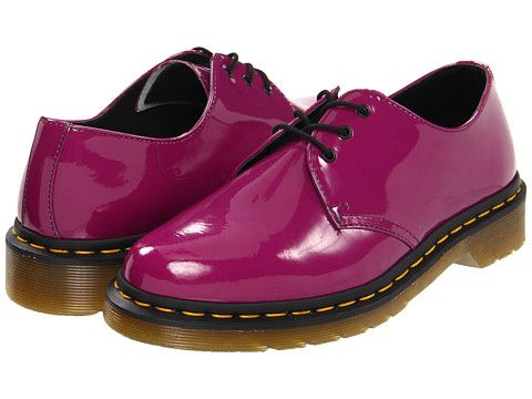 Purchased Endless Compliments Dr Martens 1461 3 Eye Gibson Purple Patent Lamper Zappos Com Free Shipping Both Ways Martens Nice Shoes Casual Shoes