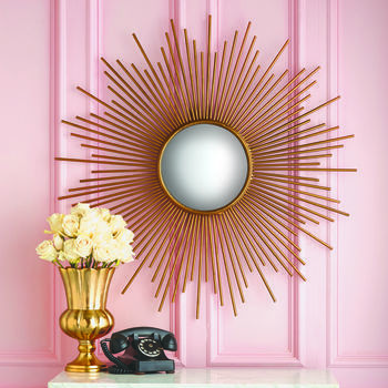 Large Gold Sunburst Wall Mirror | Apartment | Pinterest | Decorative ...
