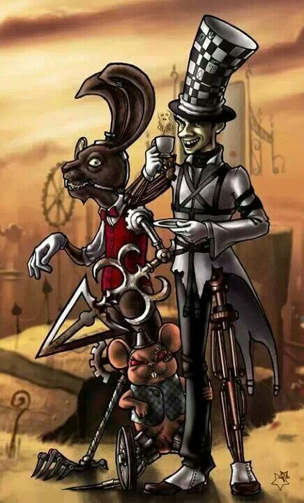 March Hare And Mad Hatter Cheshire Cat Drawing Alice In