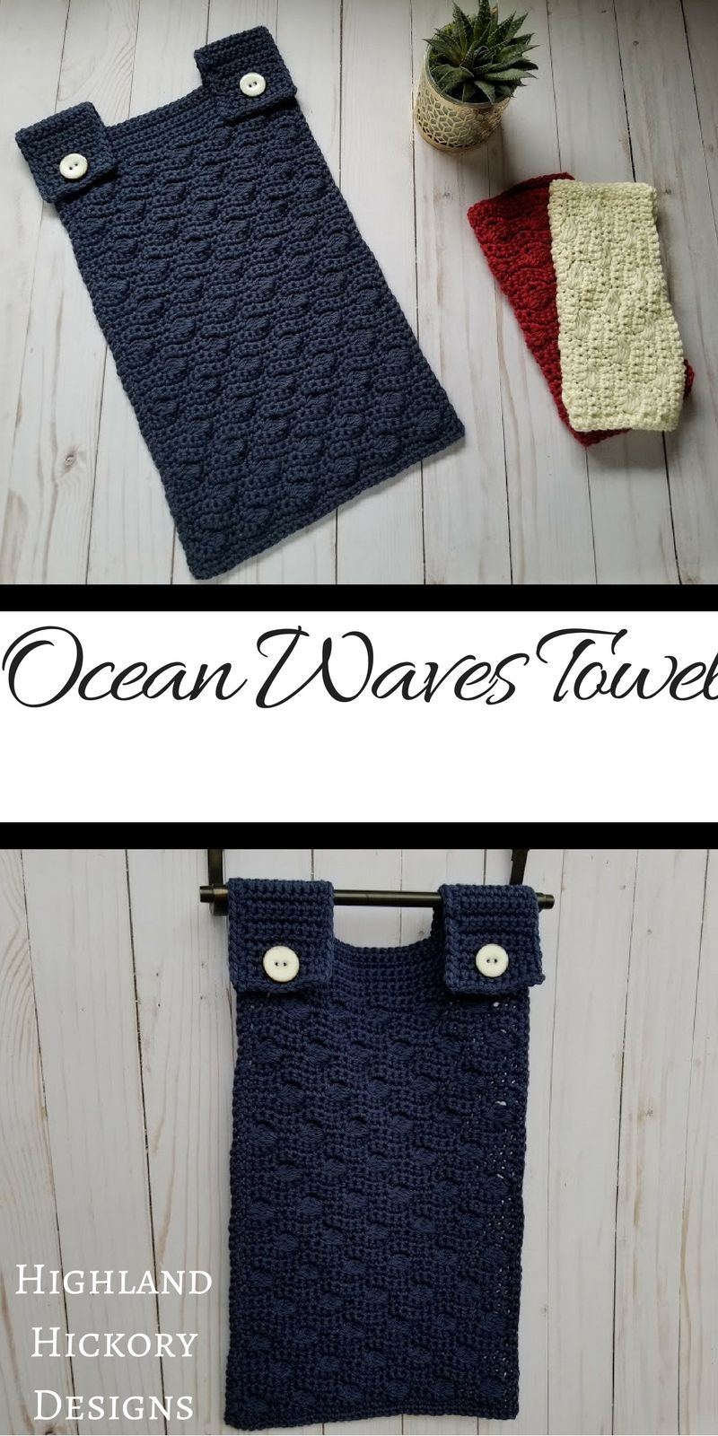Ocean Waves Towel Cotton Crochet Patterns Beginner Crochet