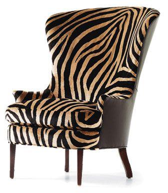 Zebra Print Garbo Chair From Jessica Charles Http Www