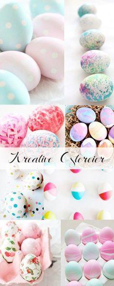 Ideen zu Ostern: Ostereier natürlich färben und bemalen | Easter ...