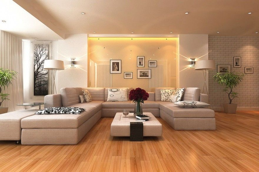 Cream modern Asian wall texture living room Wood Flooring Color