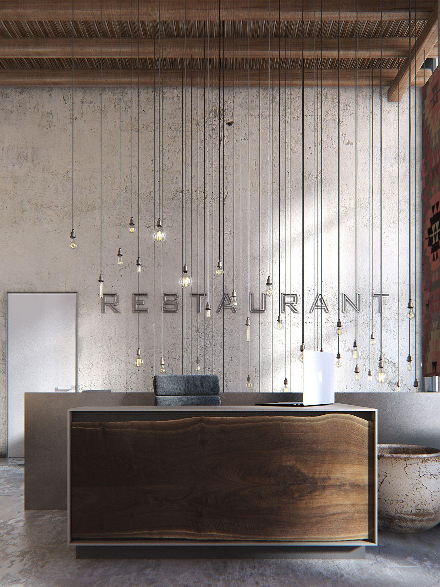 Wabi Sabi Restaurant on Behance | render | Pinterest | Küche